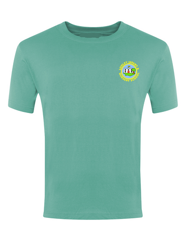 Lumley Infant & Nursery School Jade Green P.E. T-Shirt