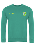 Lumley Infant & Nursery School Jade Green Sweatshirt With Initials