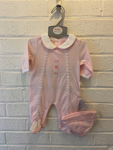 My Little Chick, Baby Pink Flower Onesie Set