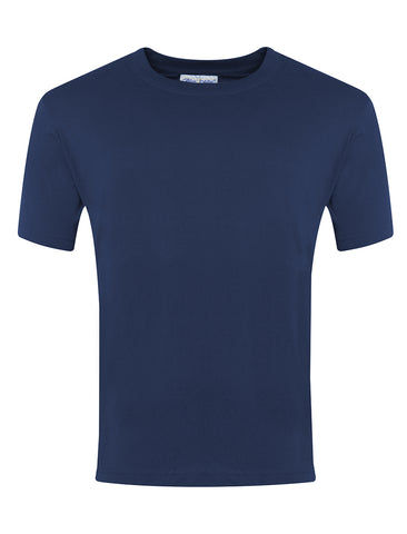St John Boste R.C. Primary School Navy P.E. T-Shirt