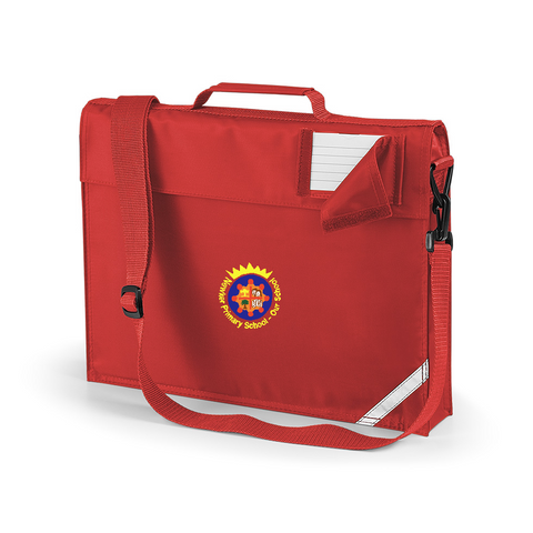 Newker Primary School Red Book Bag With A Shoulder Strap