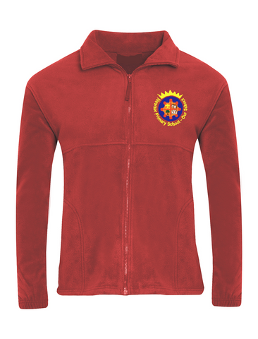 Newker Primary School Red Fleece Jacket