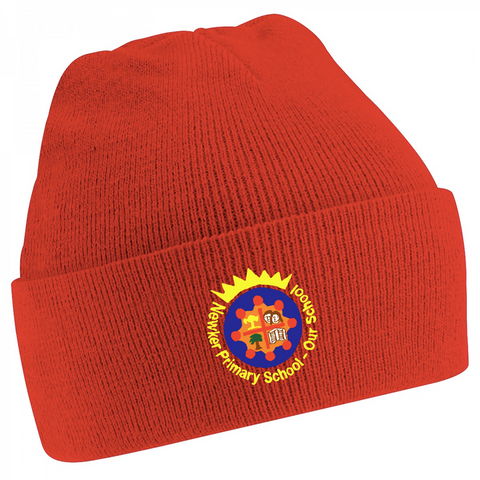 Newker Primary School Red Knitted Hat