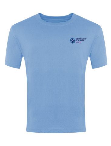 North View Academy Sky Blue P.E. T-Shirt