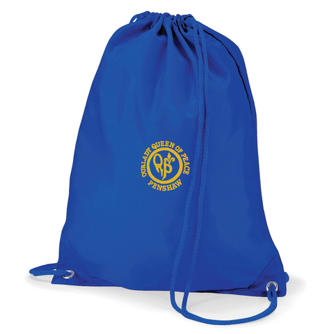 Our Lady Queen Of Peace Catholic School - Penshaw Royal Blue Gym Bag