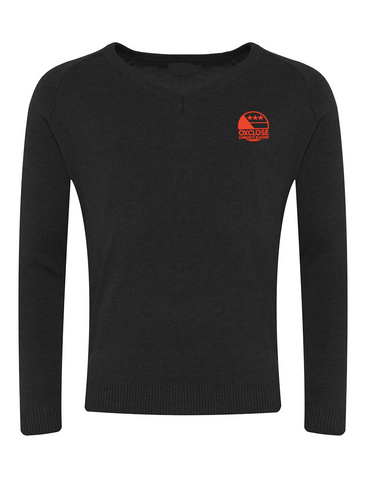 Oxclose Community Academy Black V-Neck Jumper