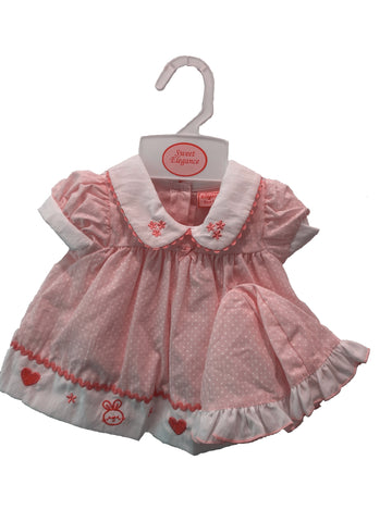 Sweet Elegance, 3 Piece Pink Spotty Dress Set