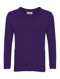 Purple Plain Cardigan