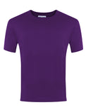 Plain Purple Round Neck P.E. T-Shirt