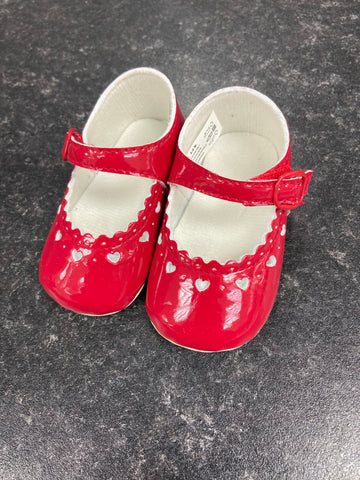 Red Little Cutie Pram Shoes
