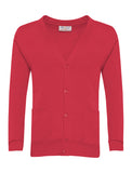 Red Plain Cardigan