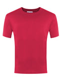 Plain Red Round Neck P.E. T-Shirt
