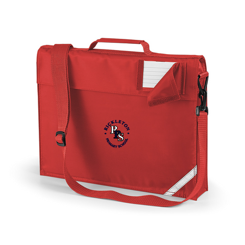 Rickleton Primary School Red Book Bag With Shoulder Strap