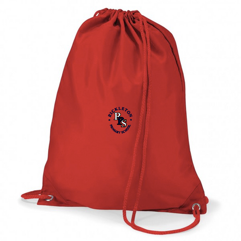 Rickleton Primary School Red Gym Bag