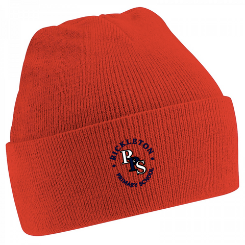 Rickleton Primary School Red Knitted Hat