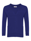 Royal Blue Plain Cardigans
