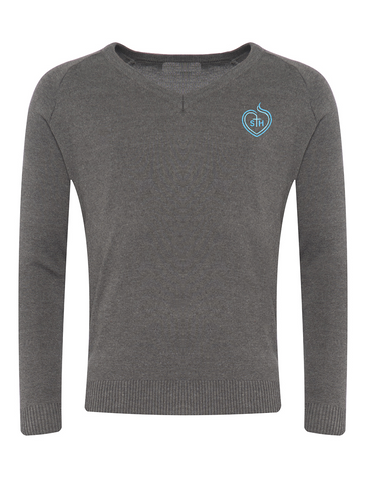 Sacred Heart Catholic High School Grey V-Neck Jumper (Year 11)