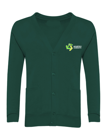 Sedgefield Hardwick Primary School Bottle Green Cardigan