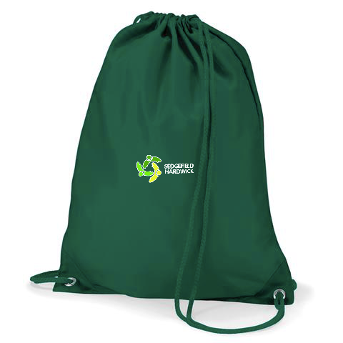 Sedgefield Hardwick Primary School Bottle Green Gym Bag