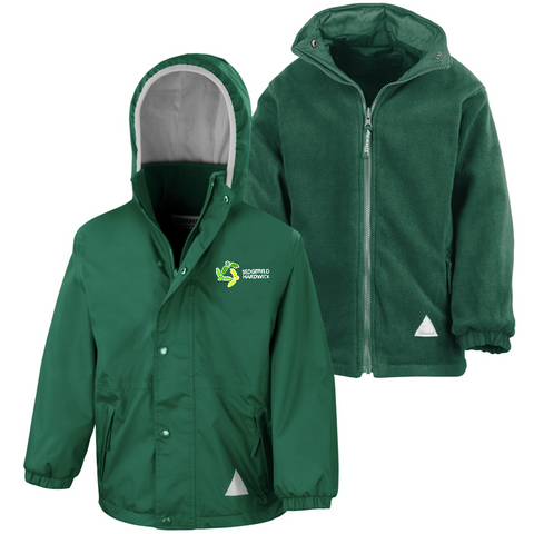 Sedgefield Hardwick Primary School Bottle Green Waterproof Coat