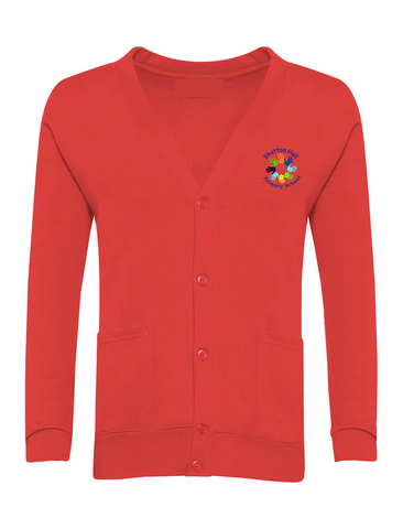 Shotton Hall Primary School Red Cardigan