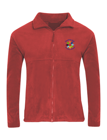 Shotton Hall Primary School Red Fleece Jacket