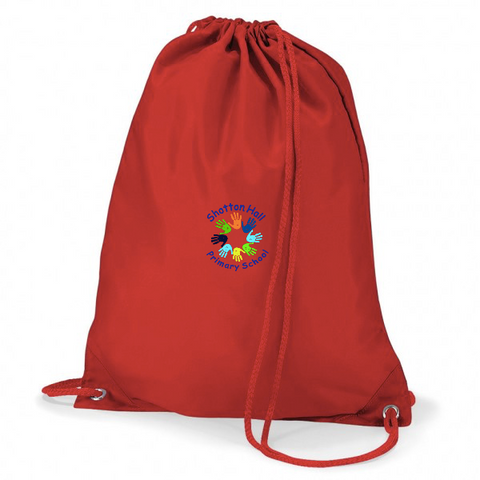 Shotton Hall Primary School Red Gym Bags