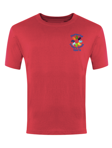 Shotton Hall Primary School Sports Red P.E. T-Shirt