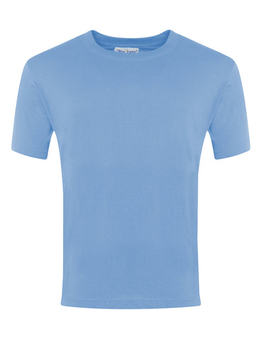 St Joseph's Washington RC School Sky Blue P.E. T-Shirt