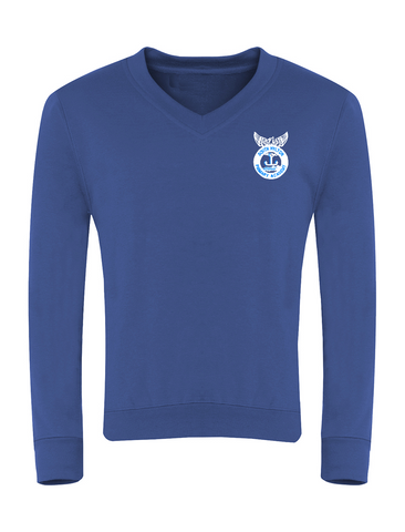 South Hylton Primary Academy Royal Blue V-Neck Sweatshirt (Year 6)