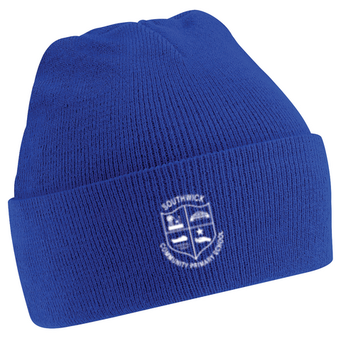 Southwick Community Primary School Royal Blue Knitted Hat