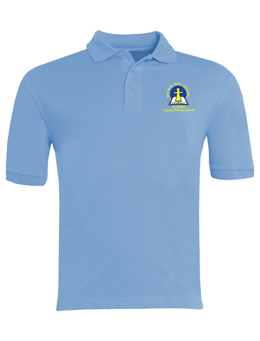 St. Bede's Catholic Primary School - Washington Sky Blue Polo