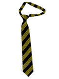 St Aidan's Catholic Academy Yellow Stripe Velcro Tie