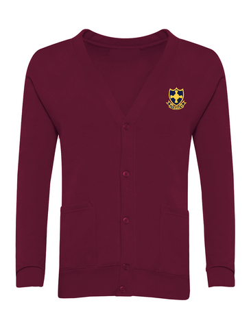 St Anne's R.C Primary School Burgundy Cardigan