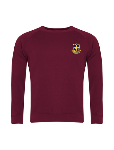 St Anne's R.C. Primary School Burgundy Sweatshirt