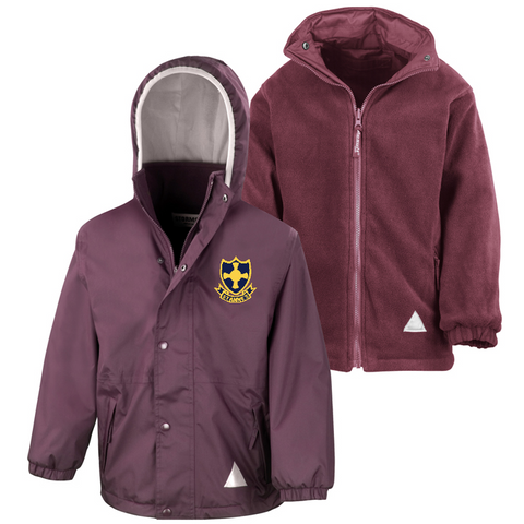 St Anne's R.C. Primary School Burgundy Waterproof Coat