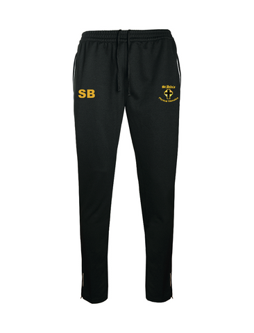 St Bede's Catholic Comprehensive School Black P.E. Slim Training Pants With Initials