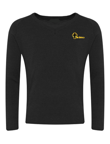 St Bede's Catholic Comprehensive School Black V-Neck Jumper