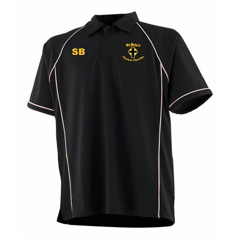 St Bede's Catholic Comprehensive School Black P.E. Polo With Initials