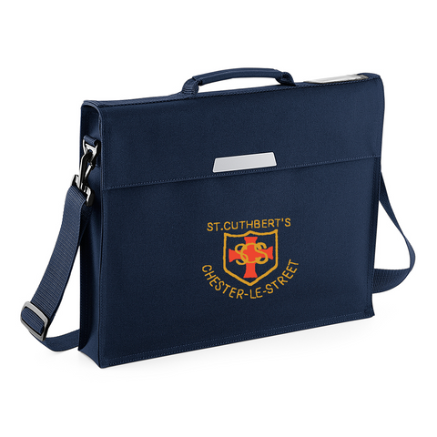 St Cuthberts R.C. Primary School Chester-le-Street Navy Book Bag with Shoulder Strap