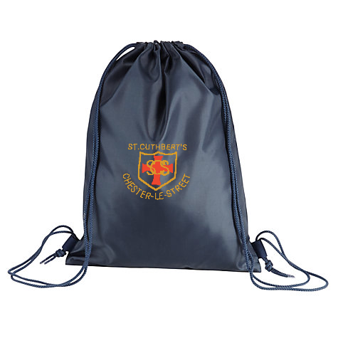 St Cuthberts R.C. Primary School Chester-le-Street Navy Gym Bag