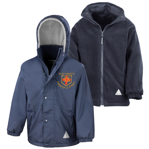 St Cuthberts R.C. Primary School Chester-le-Street Navy Waterproof Coat