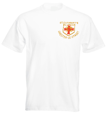 St Cuthberts R.C. Primary School Chester-le-Street White P.E. T-Shirt