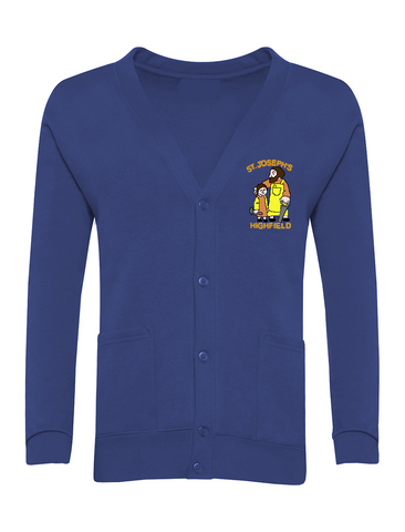 St Joseph's Highfield R.C.V.A. Primary School Royal Blue Cardigan