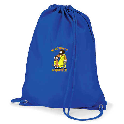 St Joseph's Highfield R.C.V.A. Primary School Royal Blue Gym Bag