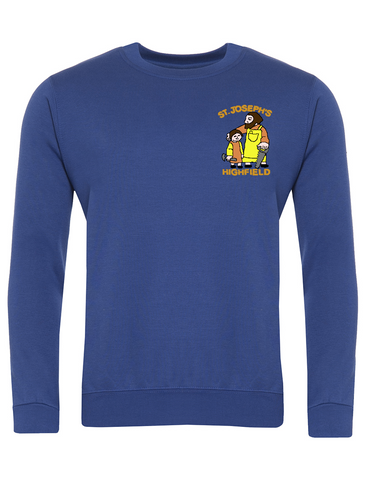 St Joseph's Highfield R.C.V.A. Primary School Royal Blue Sweatshirt