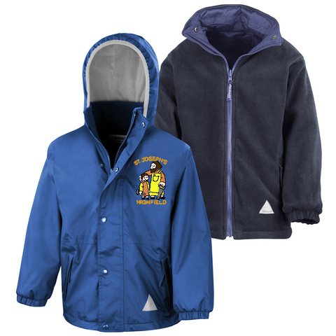 St Joseph's Highfield R.C.V.A. Primary School Royal Blue Waterproof Coat