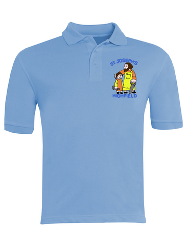 St Joseph's Highfield R.C.V.A. Primary School Sky Blue Polo
