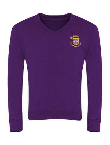 St Joseph's R.C. Primary School - Sunderland Purple V-Neck Sweatshirt