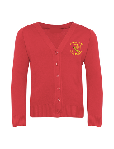 St Michael's Catholic Primary School - Houghton Le Spring Girls Red Cardigan
